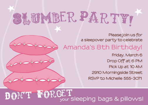 party invitations - Slumber Party by Green Ink