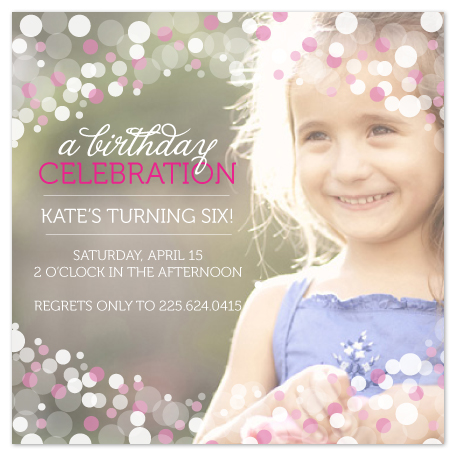 party invitations - Soft Dot Cascade by Lulubean Designs