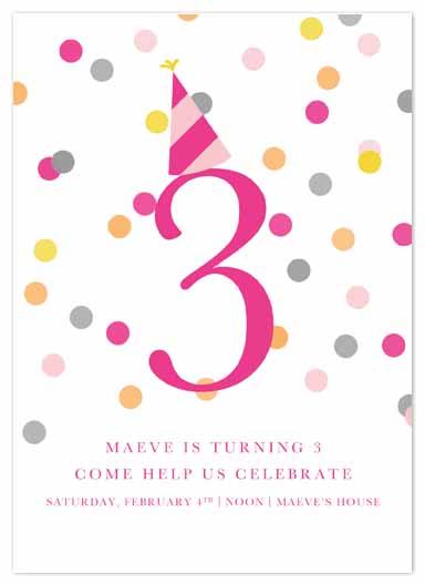 party invitations - Confetti Fun by Pretty Girl Designs