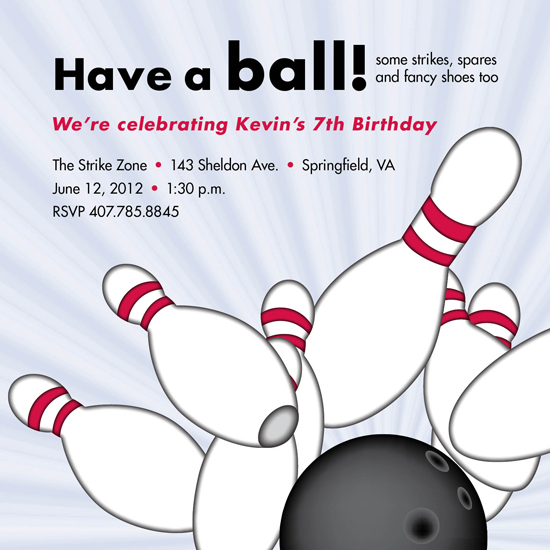 party invitations - Have a Ball by berberlita