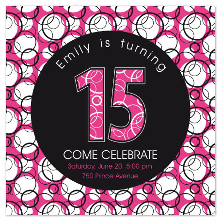 party invitations - Happy fifteen by Carolina Rezende