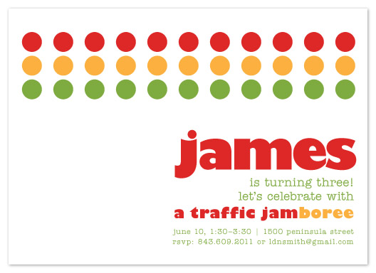 party invitations - Traffic Jam-boree by Laura New