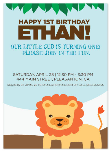 party invitations - Our Little Cub's First Birthday by Julie Bay