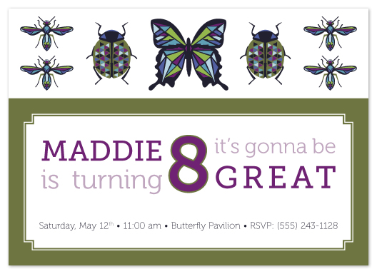 party invitations - Birthday Bugs by Heather Myers