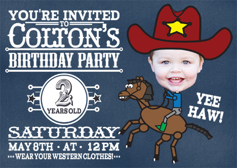 party invitations - Western Trails by Jordan Hart