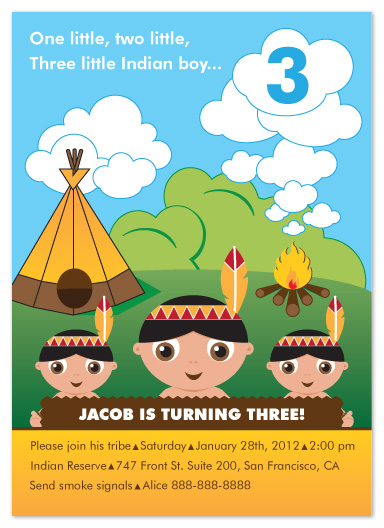 party invitations - Little Indian Boy by STenreiro