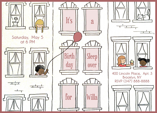 party invitations - City Sleepover by Anne Rackley
