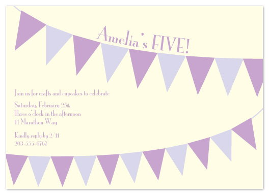 party invitations - A Banner Day by Elisabeth Lein