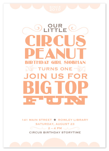 party invitations - Circus Peanut by That Girl Studio