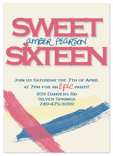 party invitations - Epic Sweet Sixteen by My Sweetie Pie