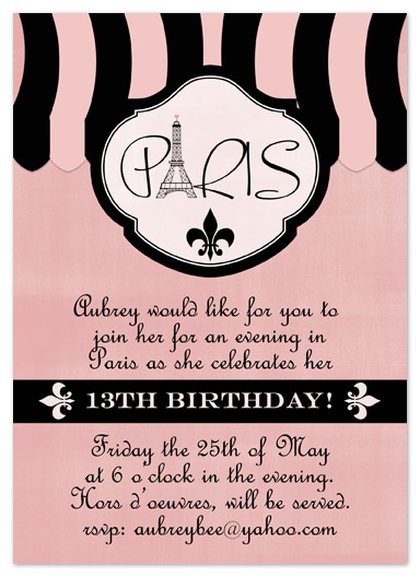party invitations - Evening in Paris by My Sweetie Pie