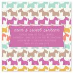 Sweet Sixteen Scotties by Lulubean Designs
