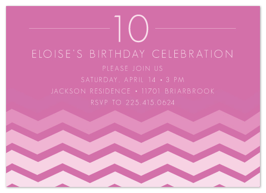 party invitations - Chic Chevron by Lulubean Designs