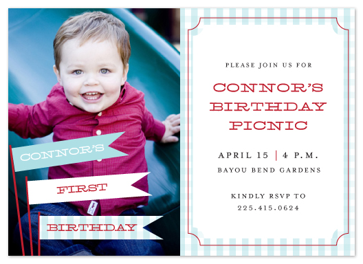 party invitations - My First Picnic by Lulubean Designs