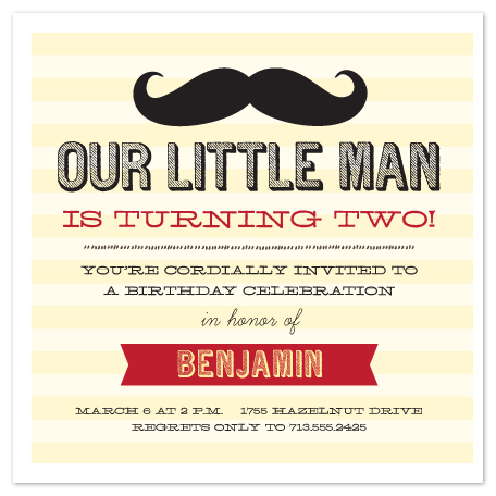 party invitations - Our Little Man by Lulubean Designs