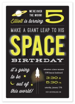 out of this world space birthday