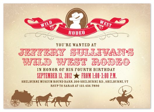 party invitations - Wild West Rodeo by Truly Noted