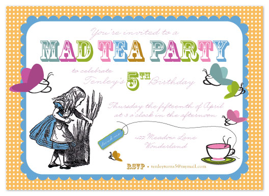 party invitations - Mad Tea Party by Ambabee