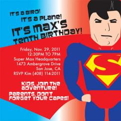 Its a Super Birthday Childrens Birthday Invitation