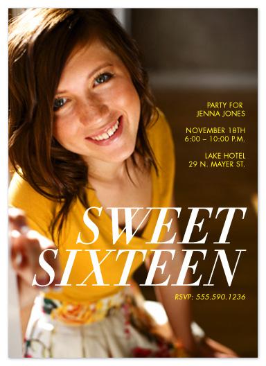 party invitations - Sleek Sixteen by Katie Gavenda