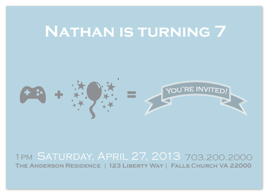 party invitations - The Controller by Joyrich Design Company