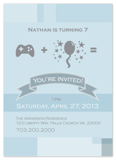 party invitations - The Controller vertical by Joyrich Design Company