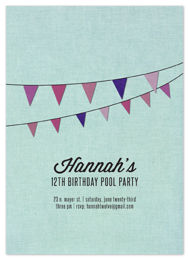 party invitations - Linen Pool Party by Katie Gavenda