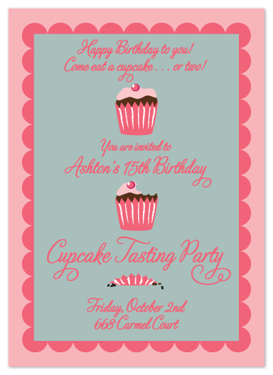 party invitations - Cupcake Tasting Party by Ambabee