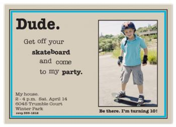 Dude ~ come to my party