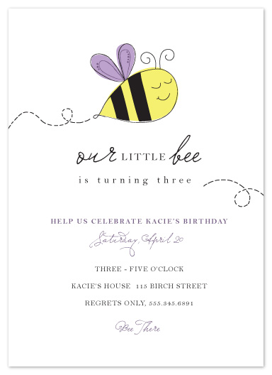 party invitations - Bee There by Kayla Grunder