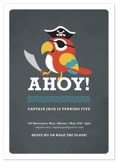party invitations - yo ho ho! by Susan Asbill
