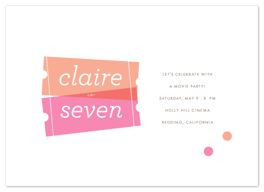 party invitations - Birthday Ticket by kelli hall