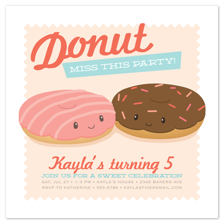 party invitations - donut miss this party! by Guess What Design Studio