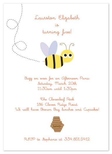 party invitations - Honey Bee Par-TEE by Julie Lewis