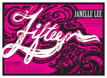 Fifteen Ink Party invitation