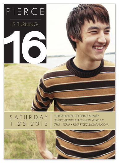party invitations - Element of a 16 Birthday invitation by Eunice Kindred