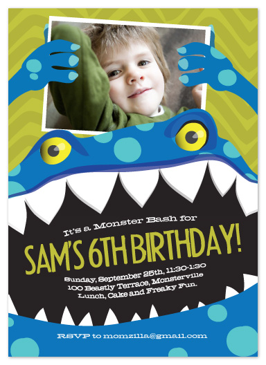 party invitations - Monster Bash! by hannahcloud DESIGN