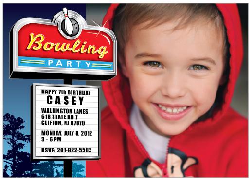 party invitations - BowlingTime by Scott Chaimowicz