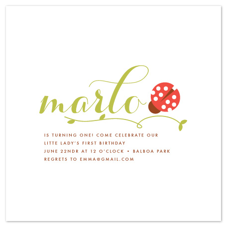 party invitations - little lady by annie clark
