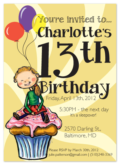 party invitations - Charlotte by Angela Chih