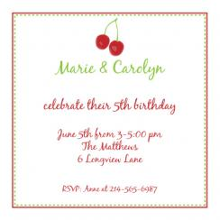 Cherry on top Birthday Invitation