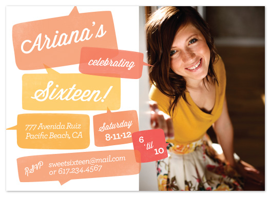 party invitations - Talk about a Sweet Sixteen! by hannahcloud DESIGN