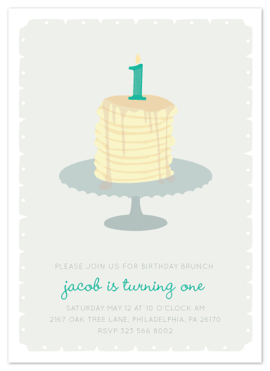 party invitations - first birthday brunch at minted, Birthday invitations