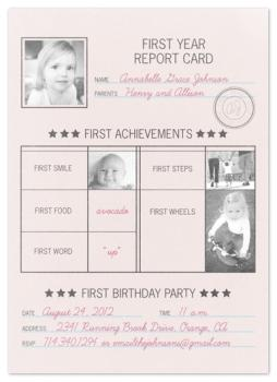 First Year Report Card