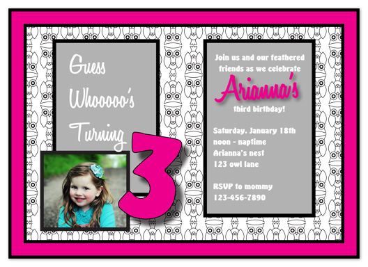 party invitations - This party is a hoot by Jenni Unruh