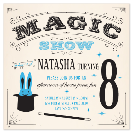 party invitations Magic Show at Minted – Magic Party Invitations