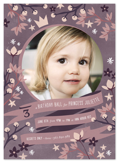 party invitations - Crown Florals by Snow and Ivy