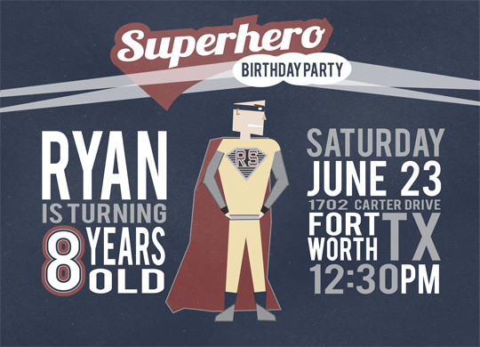 party invitations - BIRTHDAY MAN by Jordan Hart