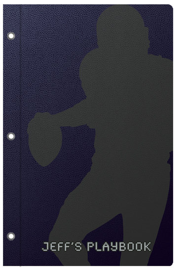 journals - Football Silhouette by Stephanie Blaskiewicz
