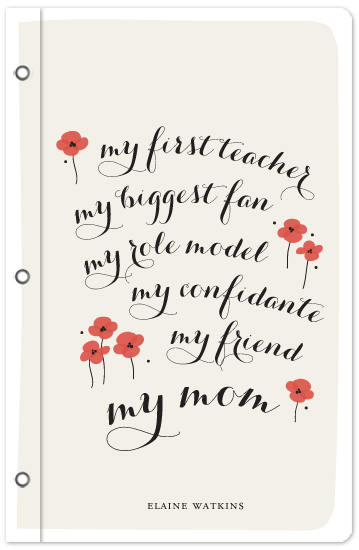 journals - My Mom by Sandra Picco Design